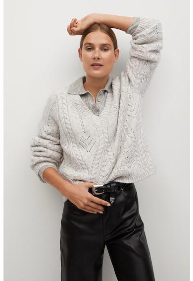 Mango Rosetta kötött pulóver kivágott részletekkel női