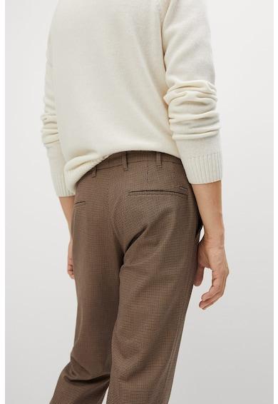 Mango Bros tyúklábmintás slim fit nadrág férfi