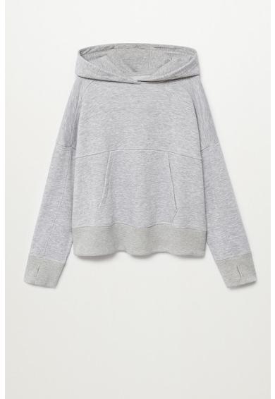 Mango Jana organikuspamut-tartalmú pulóver kapucnival Lány