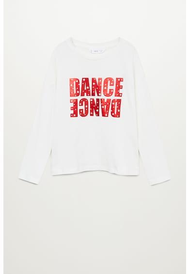 Mango Dancer feliratos organikuspamut felső Lány