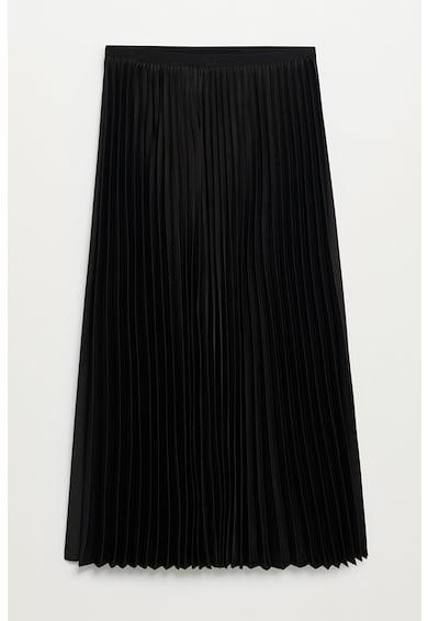 Mango Plisado szaténszoknya pliszírozott dizájnnal női