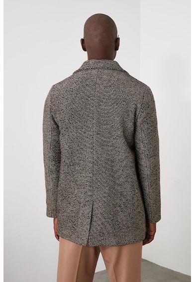 Trendyol Gyapjútartalmú dupla gombsoros kabát férfi