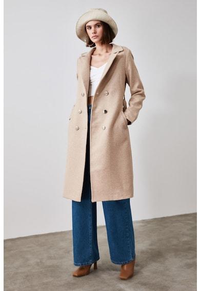 Trendyol Kabát övvel és zsebekkel női