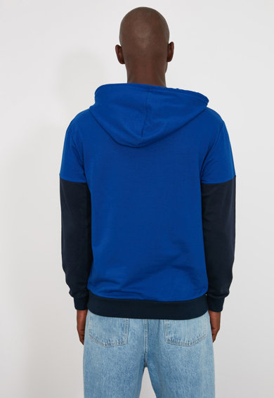 Trendyol Colorblock dizájnos kapucnis pulóver férfi