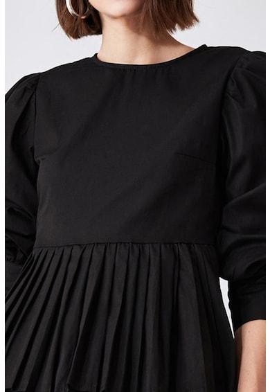 Trendyol Pliszírozott felső peplum dizájnos alsó szegéllyel női