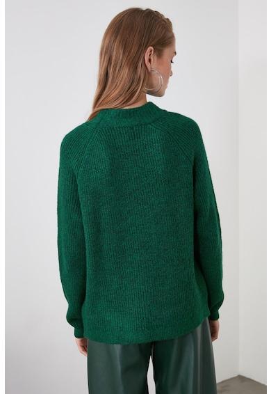 Trendyol Kerek nyakú bordázott pulóver női