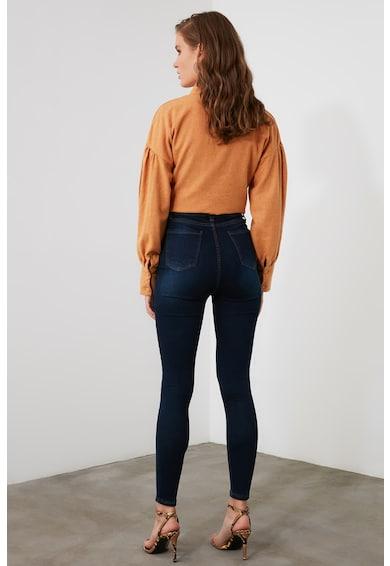 Trendyol Skinny fit farmernadrág magas derékrésszel női