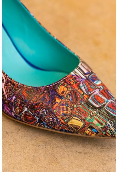 CONDUR by alexandru Pantofi de piele cu varf ascutit si imprimeu geometric Nicolette Femei