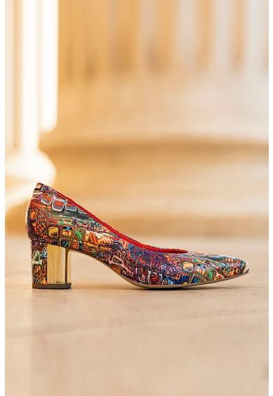 CONDUR by alexandru Chaterine vastag sarkú mintás bőrcipő női