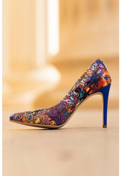 CONDUR by alexandru Pantofi stiletto de piele cu imprimeu geometric Lora Femei