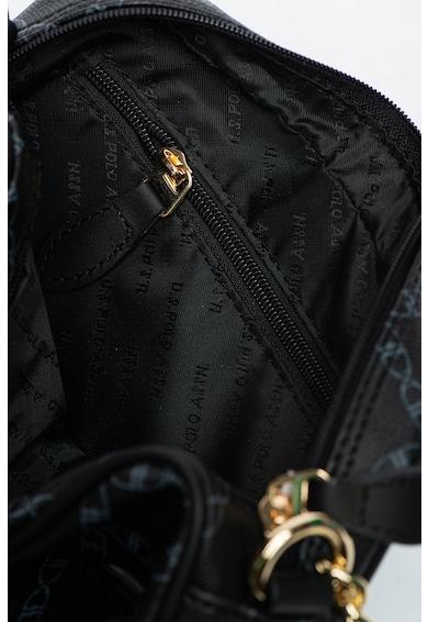 U.S. Polo Assn. Geanta din piele ecologica cu bareta de umar si model monograma Femei