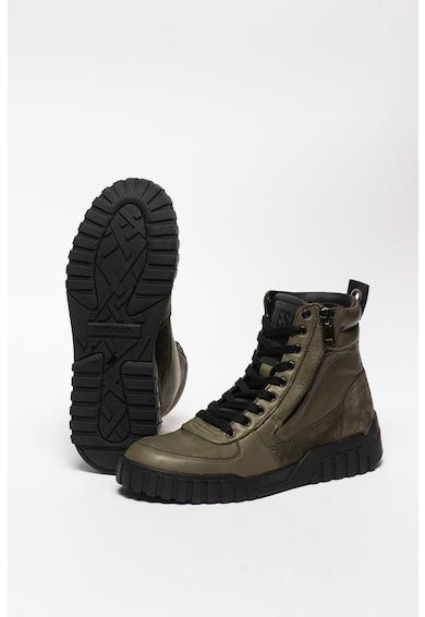 Diesel S-Rue bőr sneaker nyersbőr betétekkel férfi