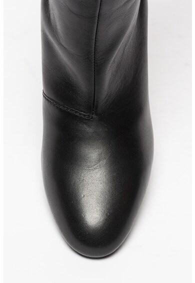 Diesel Cizme lungi pana la genunchi din piele cu fronseu Jaynet Femei