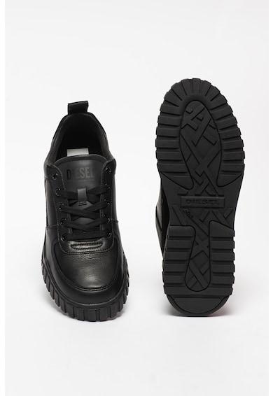 Diesel Pantofi sport din piele cu insertii din piele intoarsa S-Rua Barbati