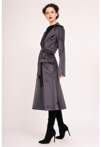 BLUZAT Palton catifelat cu revere late Femei