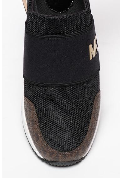 Michael Kors Pantofi sport slip-on de piele si material textil Femei