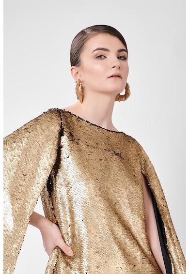 DALB Rochie cu aspect metalizat Rectangle Cape Femei