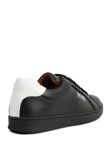 BOSS Hugo Boss, Pantofi sport de piele ecologica Baieti