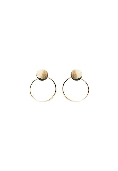 MONOM Plattitude 14 karátos aranybevonatú ezüst fülbevaló női