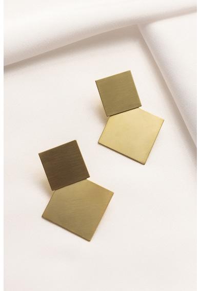 MONOM Duoplattitude 14 karátos aranybevonatú ezüst fülbevaló női