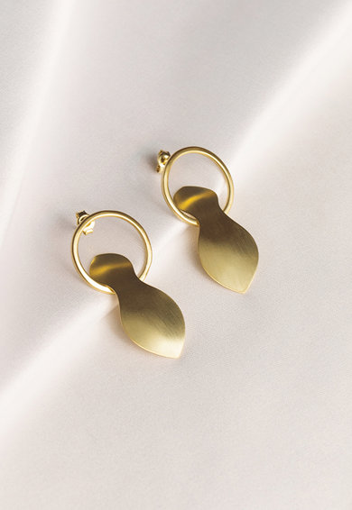 MONOM Aura 14 karátos aranybevonatú ezüst fülbevaló női