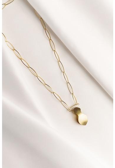 MONOM Aura 14 karátos aranybevonatú ezüst fülbevaló medállal női