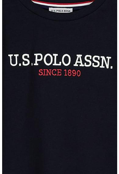 U.S. Polo Assn. Kerek nyakú logómintás felső Fiú