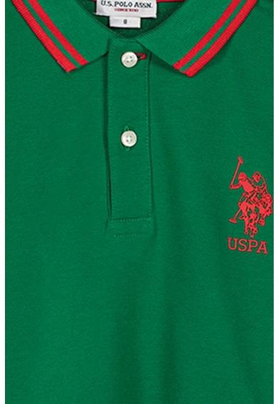 U.S. Polo Assn. Bluza polo din material pique Baieti