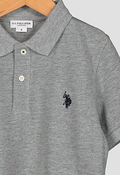 U.S. Polo Assn. Galléros pamutpóló hímzett logóval Fiú
