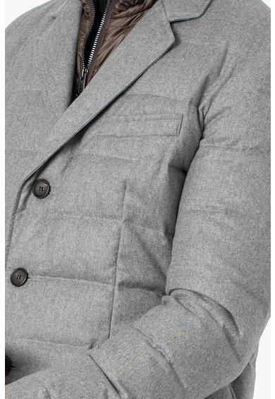 add 2 az 1-ben hatású szűzgyapjúval bélelt télikabát férfi