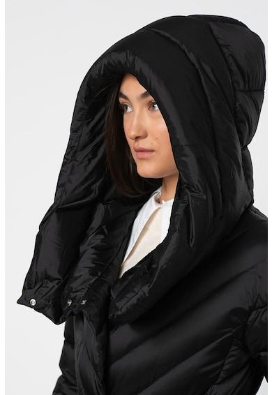 add Pihével bélelt télikabát hosszított fazonnal és megkötővel a derekán női