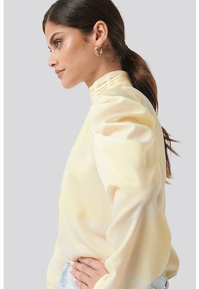 NA-KD Bluza cu guler inalt si maneci bufante Femei