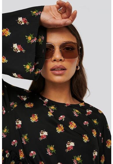 NA-KD Rochie mini evazata cu imprimeu floral si design stratificat Femei