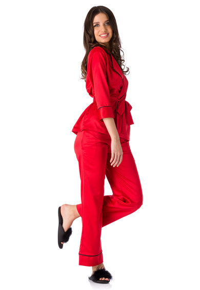 En Privé Pijama din satin Iris Femei