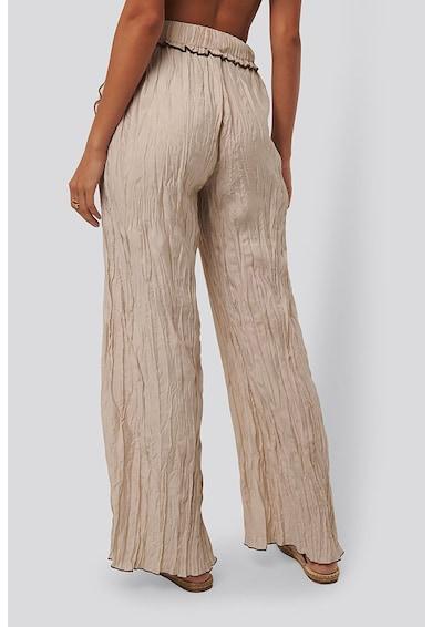 NA-KD Pantaloni cu croiala ampla si aspect sifonat Femei