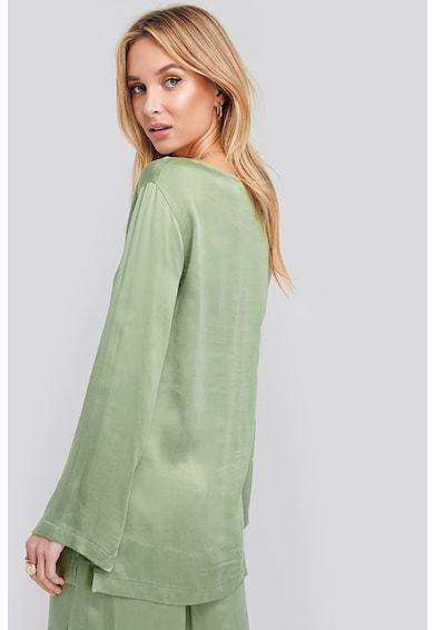 NA-KD Bluza lejera din amestec de material cupro cu slituri laterale Femei