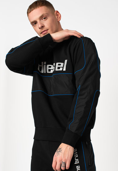 Diesel S-Lain logómintás pulóver férfi