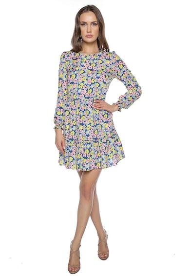 Miss One Virágmintás ruha bővülő alsó szegéllyel női