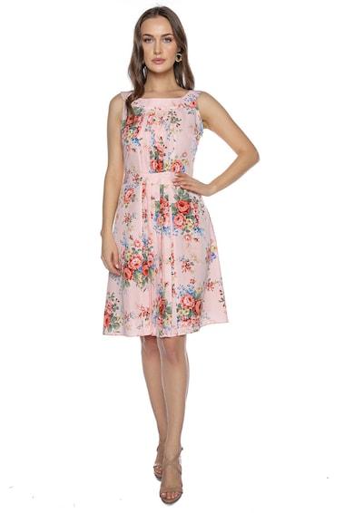 Miss One Virágmintás ruha hajtásokkal női