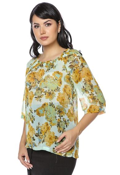 Miss One Bluza semitransparenta cu model floral Femei