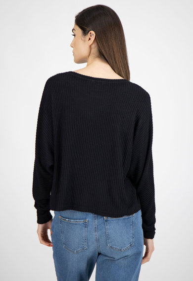 b.young Pulover tricotat fin, cu aspect striat Femei