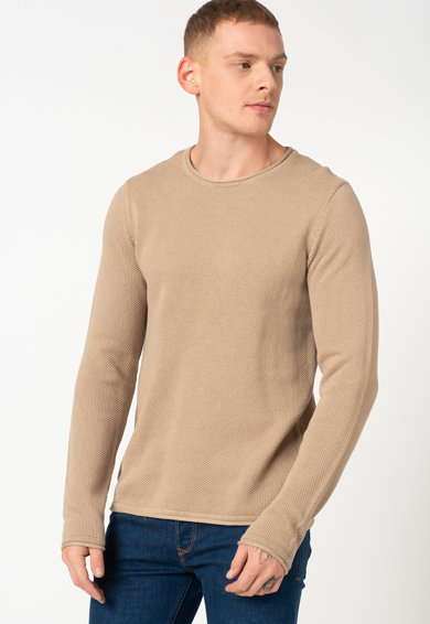 Jack&Jones Roll kerek nyakú texturált hatású pulóver férfi