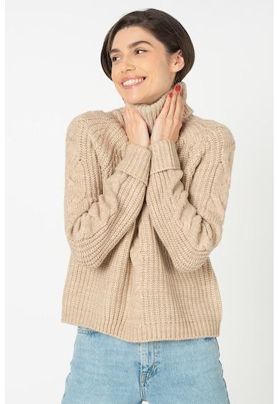 Only Pulover tricotat fin cu guler inalt Daisy Femei
