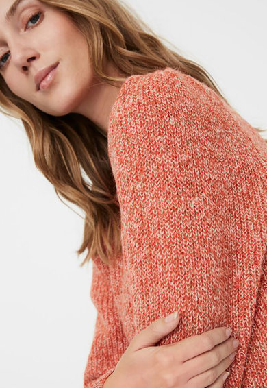 Vero Moda Kerek nyakú pulóver puffos ujjakkal női