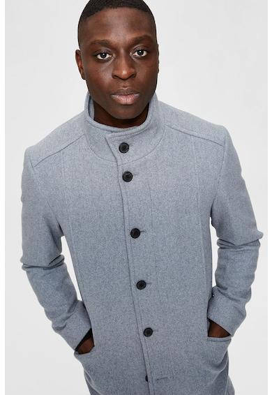 Selected Homme Palton din amestec de lana cu guler inalt Barbati