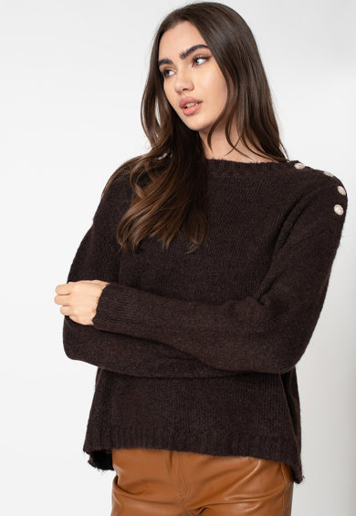 Vero Moda Aby pulóver ejtett ujjakkal női