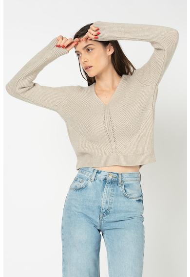 Only Jada finomkötött pulóver V alakú nyakrésszel női