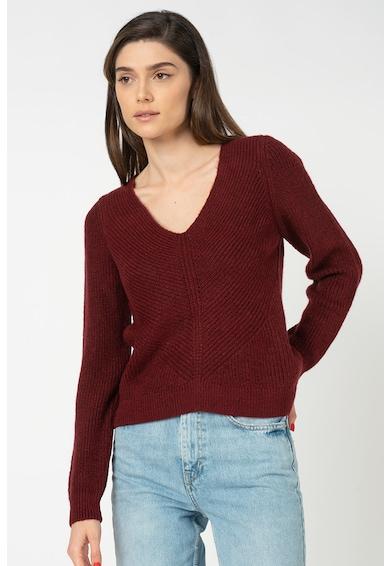 Only Pulover tricotat fin cu decolteu in V Jada Femei