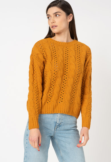 Only Chanet pulóver azsúros dizájnnal női