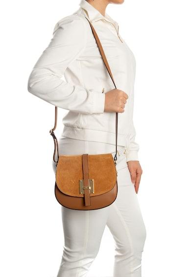 Lia Biassoni Adda keresztpántos bőr és nyersbőr táska női